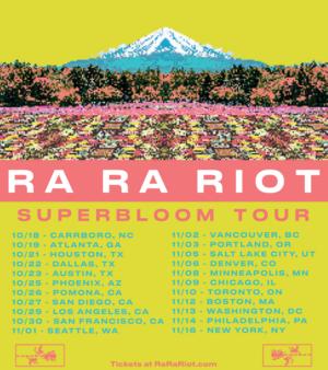 Ra Ra Riot Announces Headlining Tour