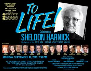 American Songbook Association to Honor Sheldon Harnick; Kate Baldwin, Laura Benanti and More to Perform