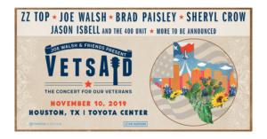 Brad Paisley, Sheryl Crow to Perform at VETSAID 2019
