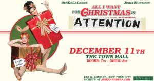 BenDeLaCreme & Jinkx Monsoon Headline Town Hall December 11th