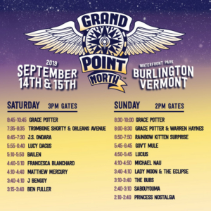Grand Point North Announces Set Times and Art Installation