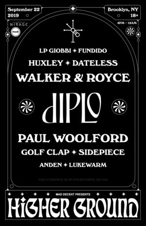 Mad Decent & Made Event Presents HIGHER GROUND w/ Diplo, Walker & Royce, Paul Woolford Sept 22 at The Brooklyn Mirage ile ilgili görsel sonucu