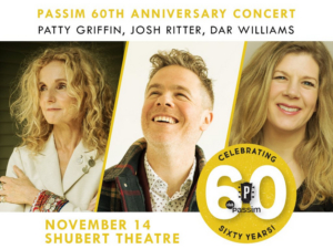 Patty Griffin, Josh Ritter and Dar Williams to Celebrate the 60th Anniversary of Passim