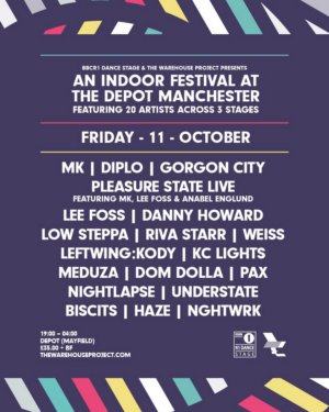 The Warehouse Project & BBC R1 Dance Stage to Host Indoor Festival