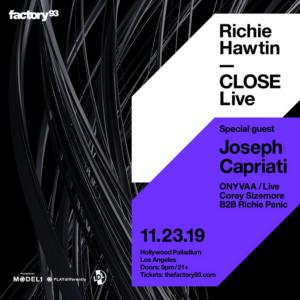 RICHIE HAWTIN Last 'CLOSE' Live Show of 2019 S ile ilgili görsel sonucu