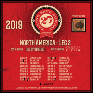 Red City Radio to Support Taking Back Sunday on 20 Year Anniversary Tour