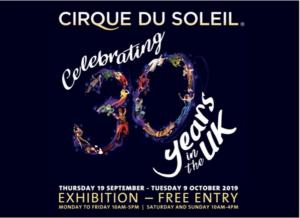 CIRQUE DU SOLEIL Celebrates 30 Years In The UK