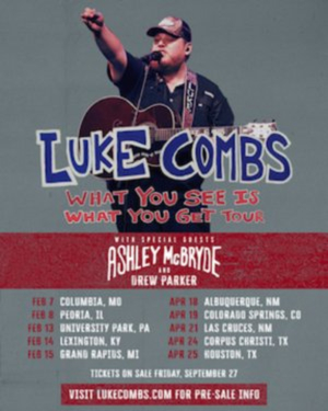 Luke Combs Announces 2020 'What You See Is What You Get Tour'