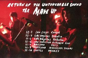 The Make-Up Announce West Coast Tour