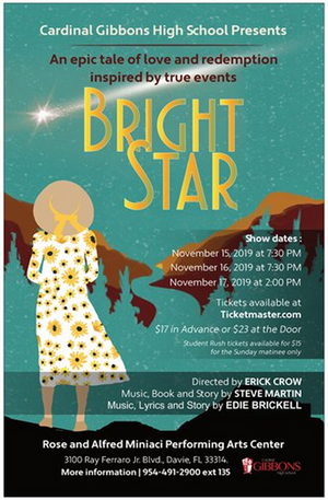 Cardinal Gibbons High School presents Steve Martin and Edie Brickell's BRIGHT STAR