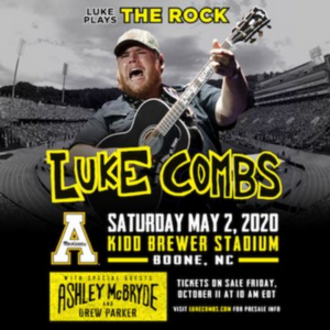Luke Combs to Headline Appalachian State University's Kidd Brewer Stadium