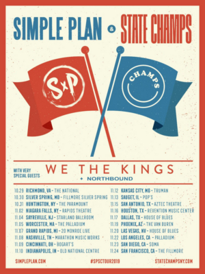 Simple Plan to Tour This Fall with State Champs & We The Kings