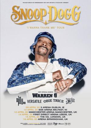 Snoop Dogg Announces UK Arena Tour