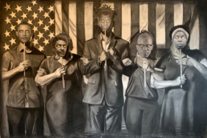 Tylonn J. Sawyer Creates Mural Depicting First African American Student To Attend U-M