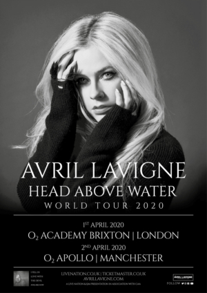 Avril Lavigne Announces 'Head Above Water' 2020 World Tour