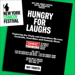 """NEW YORK COMEDY FESTIVAL and Hal Rubenstein Team Up to Debut """"Hungry for Laughs"""" on 11/5"""