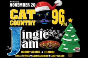 Cat Country 96 Jingle Jam Announces Lineup, Featuring Rodney Atkins, Filmore, Tenille Townes, & More!
