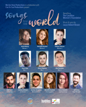We Are Here Productions To Present Songs for a New World Benefiting the Canadian Women's Foundation