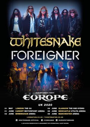 Whitesnake & ForeignerAnnounce U.K. 2020 Tour
