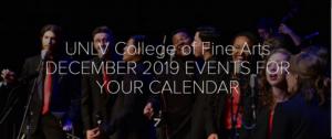University of Nevada, Las Vegas Releases December Schedule