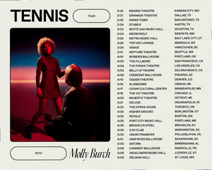 Tennis Announces Tour Dates, New Album Out February 14