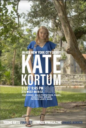 Jazz Vocalist Kate Kortum Will Make Her Debut at the Birdland Theater