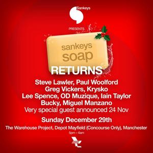 The Warehouse Project Announces the Return of Sankeys Soap