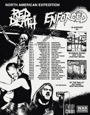 Red Death Announce Co-Headline North American Expedition Tour with Enforced