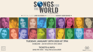 Feinstein's/54 Below to Present SONGS FOR THE WORLD January 28