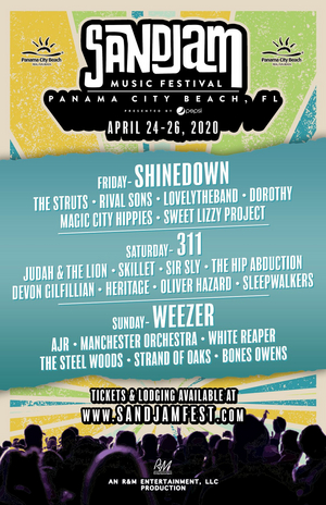 SandJam 2020 Lineup Announced, Featuring Shinedown, 311 and Weezer!
