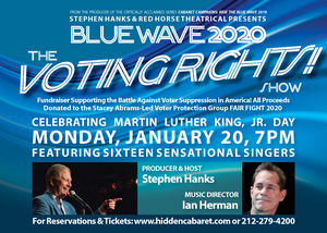BLUE WAVE 2020: THE VOTING RIGHTS SHOW Comes To Hidden Cabaret At The Secret Room