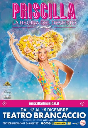PRISCILLA LA REGINA DEL DESERTO  al Teatro Brancaccio  COMUNICATO STAMPA