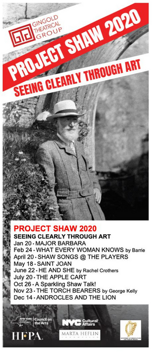 Gingold Theatrical Group's PROJECT SHAW Announces 15th Season