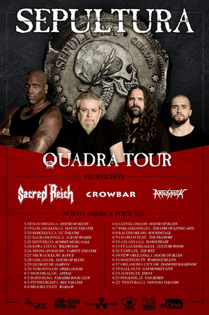 Art Of Shock To Join Sepultura On Spring 2020 North American Quadra Tour