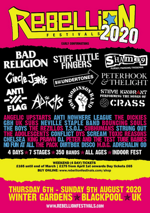 Rebellion Festival to Return August 6