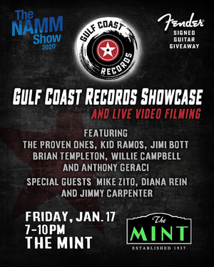 Gulf Coast Records Present Showcase & Live Video Filming on Jan. 17