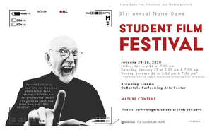 31st Annual Notre Dame Student Film Festival to Take Place January 24-26