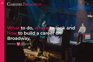 New Broadway League Website Spotlights Theatrical Careers
