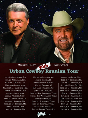 Mickey Gilley and Johnny Lee Announce The 'Urban Cowboy Reunion Tour'
