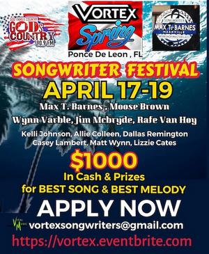 Vortex Springs Songwriter Festival Announced