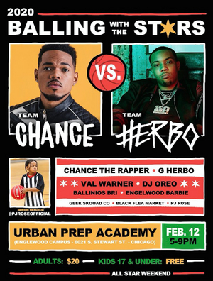 G Herbo and Chance The Rapper Join 'Balling With The Stars' Charity Game