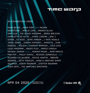 Time Warp Announces Headliners for 2020's Mannheim Edition