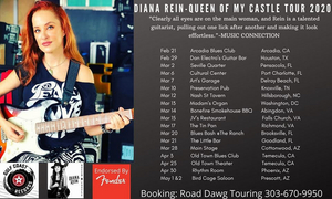 Guitarist Diana Rein 2020 'Queen Of My Castle' Tour Comes to Arcadia Blues Club