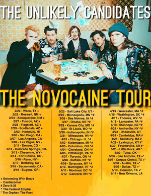 The Unlikely Candidates' 'Novocaine' Hits #5 on Alternative Radio Chart