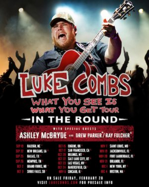 Luke Combs Extends 'What You See Is What You Get Tour'