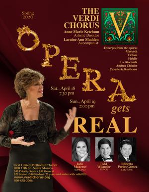 The Verdi Chorus to Present Spring 2020 Concert OPERA GETS REAL
