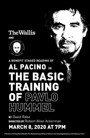 Al Pacino to Participate in Benefit Staged Reading of THE BASIC TRAINING OF PAVLO HUMMEL