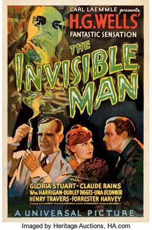 Rare INVISIBLE MAN Poster to Disappear in Heritage Auctions Movie Posters Auction