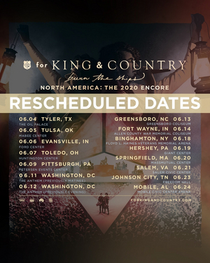 for KING & COUNTRY To Reschedule Spring Tour Dates