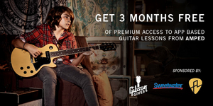 Gibson Gives and Sweetwater Team Up To Offer 3 Month Premium Memberships To Amped Guitar